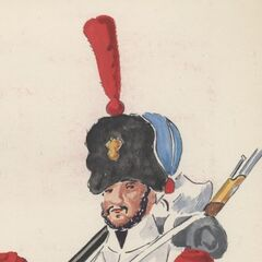 Сапер 1-го линейного полка, 1814 - 1815 гг.