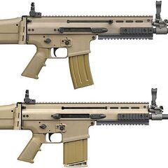 Сравнительные размеры SCAR-L и SCAR-H.