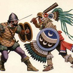 Воин-орел (справа) атакует <a href=