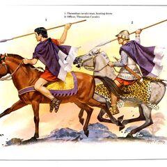 1. Фессалийский кавалерист (охотничья одежда); 2. Офицер фессалийской кавалерии.