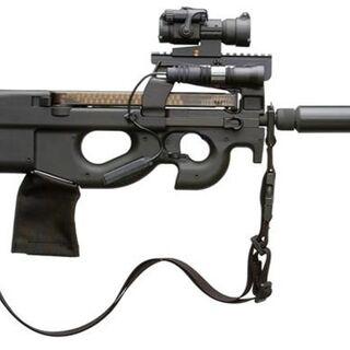 P90 в тактическом исполнении.