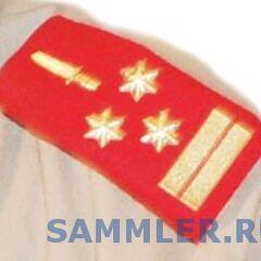 Погон генерал-лейтенанта армии Бурунди.