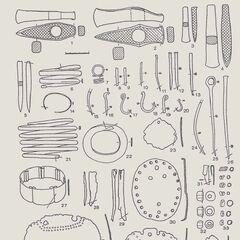 Основные наборы металлических изделий Триполья A - BI.