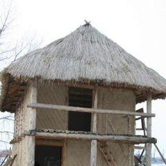 Модель трипольского дома в натуральную величину.
