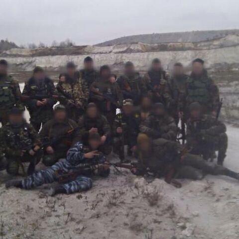 Бойцы роты на востоке Украины, декабрь 2014 г.
