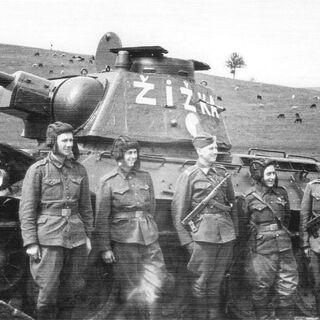 Экипаж танка Жижка.