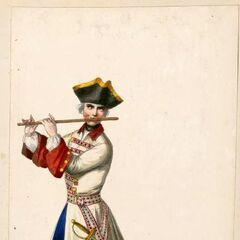 Полковой флейтист, после 1710 года.