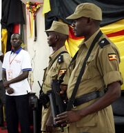 Chinese Chang Feng Submachine Gun in use by Ugandan police