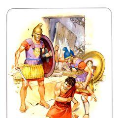 1. Пеший царский гвардеец; 2. Греческий наемник на персидской службе; 3. Офицер царской гвардии.