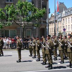 Люксембургские солдаты на параде, 2008 год.