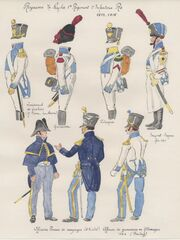 NAPLES 1er r gt d'Infanterie de ligne 114, 115 & 122