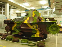 Type 95 Ha Go tank under restoration in Sept 2012