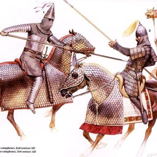 Парфянский (1) и Армянский (2) катафракты, III век н. э.