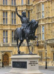 Richard I of England - Palace of Westminster - 10092009 crop