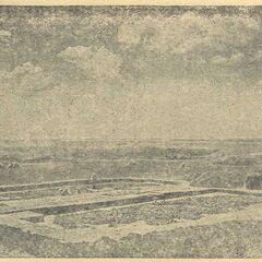 Общий вид раскопок трипольского поселения.