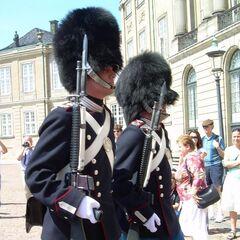 Датские королевские гвардейцы.