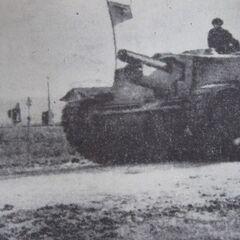 43M Zrínyi II на службе в Румынии недалеко от города Клуж (ныне Клуж-Напока), конец 1944 года.