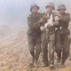 Сопровождение раненного, пограничный конфликт 1984 года.