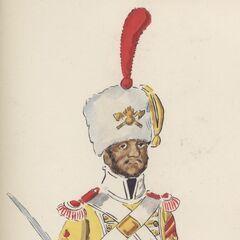 Сержант саперов 7-го линейного полка, 1814 - 1815 гг.