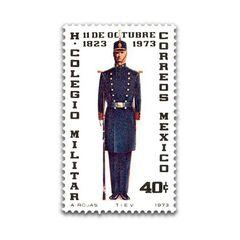 Марка 1973 года с изображением кадета Героической Военной Академии.