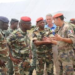 Военнослужащие Республики Конго с французскими советниками.