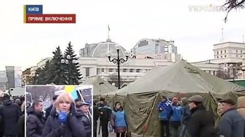 Митингующие на Майдане формируют отряды самообороны