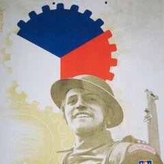 Английский плакат, говорящий о том, что Чехословакия союзник Великобритании.