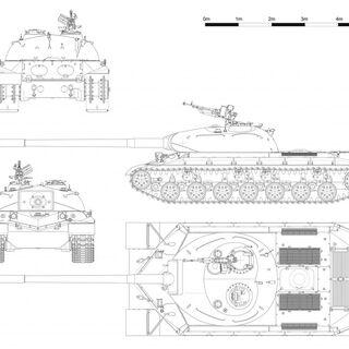Проекции танка WZ-111.