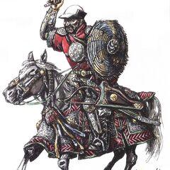Тяжелый казахский всадник.