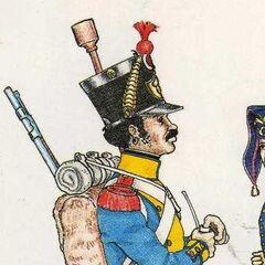 Канонир артиллерийской роты 7-го линейного полка, 1813 г.