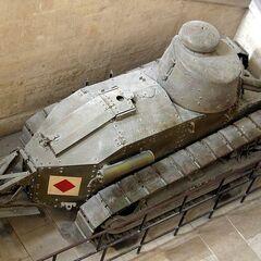 Рено ФТ в парижском Музее армии, вид сверху.