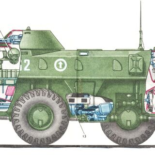 Схема БТР-70.