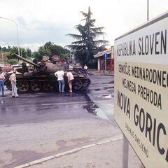 КПП в Нова-Горице после боя.
