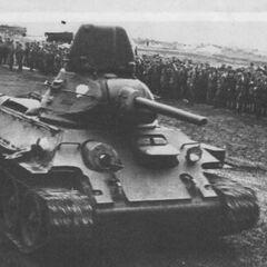 Т-34 на смотре в учебной части.