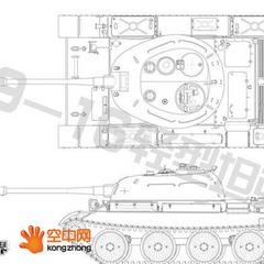 Проекции лёгкого танка 59-16.