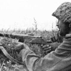 Немецкие солдаты охотно использовали трофейные ППШ.