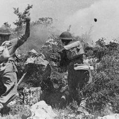 Атака военнослужащих 2-ого польского корпуса на Монте-Кассино.