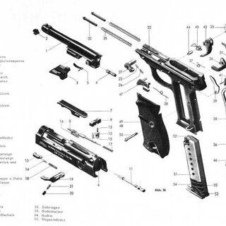 Схема разборки пистолета.