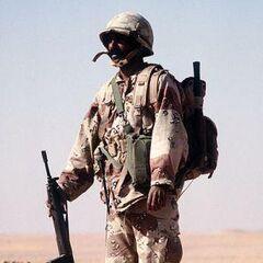 Солдат армии Саудовской Аравии.