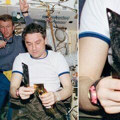 Российский космонавт Валерий Корзун использует <a class=