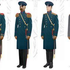 Офицеры в повседневной форме, 1907 - 1914 гг.