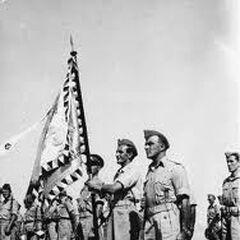 Знамённая группа батальона, 1941 год.