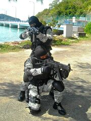 STAR team with the UMP9 and SG-553
