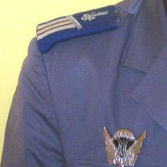 Пример ношения эмблемы конкретного подразделения.