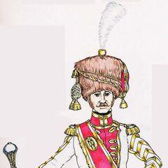 Тамбурмажор 4-го линейного полка, 1813 г.