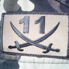 Полевой вариант нашивки батальона.