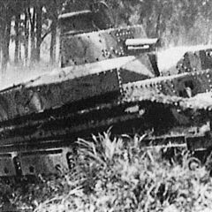 Экспериментальный Танк №1 на ходовых испытаниях, 1927 г.