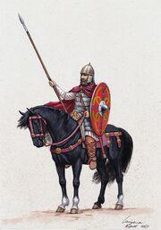Франкский знатный всадник. VI век н.э.