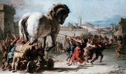 Giovanni Domenico Tipeolo, Procession of the Trojan Horse in Troy. 1773.