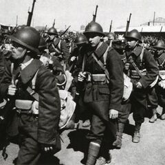 Войска на марше.